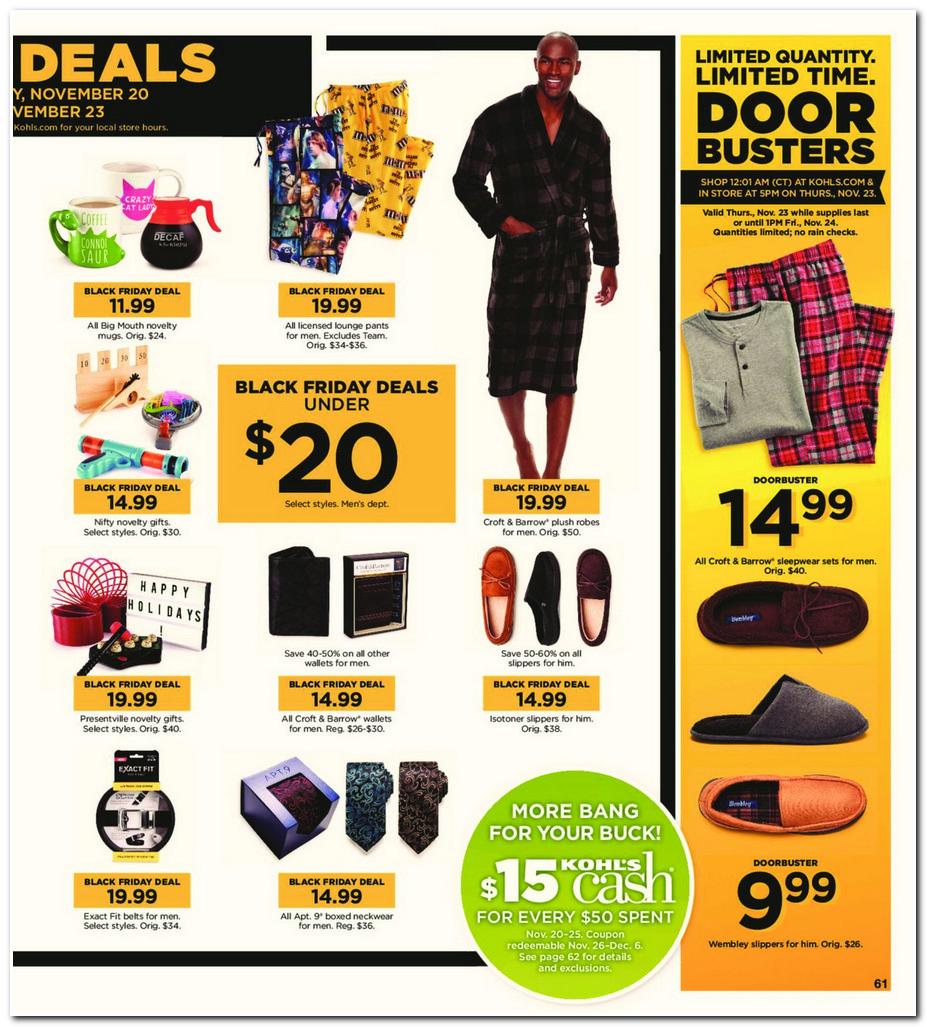 Kohls black friday deals 2018