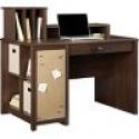 Deals List: Ameriwood® Carson Cube Desk w/ Low Hutch, Resort Cherry