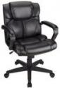Deals List: Brenton Studio Briessa Mid-Back Vinyl Chair, Brown/Black