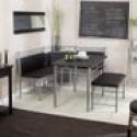 Deals List: Family Diner Breakfast Nook 3-Piece Set (black)