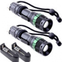 Deals List: 2X 2000 Lumen Zoomable CREE XM-L T6 LED Flashlight Torch Zoom Lamp Light Charger