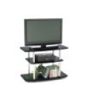 Deals List: Convenience Concepts 131020 3-Tier TV Stand for Flat Panel TV's up to 32-Inch or 80-Pound, Black