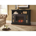 Deals List: Home Decorators Collection Charles Mill 46 in. Convertible Media Console Electric Fireplace in Black