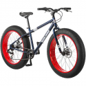 "Deals List: 26"" Mongoose Dolomite Men's 7-speed All-Terrain Fat Tire Mountain Bike, Navy Blue/Red"