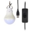 Deals List: Onite LED CampLight, Children Bed Lamp, Portable USB LED Bulb, Emergency Light, Cord comes with Switch, 5W, Warm White