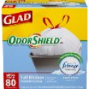 Deals List: Glad OdorShield Tall Kitchen Drawstring Trash Bags, Fresh Clean, 13 Gallon, 80 Count