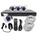 Deals List: R-Tech Surveillance System with 4 Channel 1080p Network Video Recorder NVR including 4 Built-In PoE Ports, 1TB Hard Drive and 4 1.3 Megapixel Night/Day Outdoor IP Bullet Security Cameras