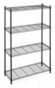 Deals List: Black/Chrome Storage Rack 4-Tier Organizer Kitchen Shelving Steel Wire Shelves