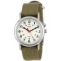 Deals List: Timex Women's T2P2289J Weekender Olive Slip-Thru Nylon Strap Watch