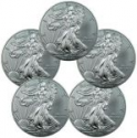Deals List: Lot of 5 - 2015 1 Troy Oz .999 Silver American Eagle $1 Coin
