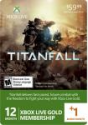 Deals List: Microsoft - Xbox Live 12+1 Month Gold Membership - Titanfall - Multicolor