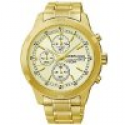 Deals List: Seiko SKS426P1 Mens Chronograph Gold-Tone Steel and Dial Watch