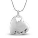 Deals List: Antiqued 'I Love You' Heart Necklace