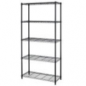 "Deals List: Chrome/Black 5-Shelf Home Office Steel Wire Shelving 72""x36""x14"" Storage Rack"