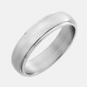 Deals List: 3 Stainless Steel Ring with Rounded Brushed Top And Stepped Edges