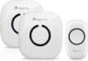 Deals List: Magicfly Portable Wireless Doorbell Kit Operating at 1000 ft Range with Over 50 Chimes, No Batteries Required for Receiver [1 Transmitter, 2 Receiver]