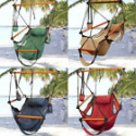 Deals List: Hammock Hanging Chair Air Deluxe Sky Swing Outdoor Chair Solid Wood 250lb