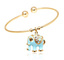 Deals List: 18K Gold Plated Crystal Elephant Charm Bangles or Fabric Bracelet with Swarovski Elements