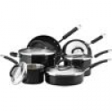 Deals List: Rachael Ray Stainless Steel II Colors Dishwasher Safe 10-Piece Cookware Set, Black