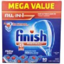 Deals List: Finish Powerball Tabs Dishwasher Detergent, Fresh Scent, 90 Count