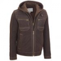 Deals List: Wilsons Leather Mens Suede Hooded Jacket