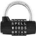 Deals List: Wordlock PL-004-BK 5-Dial Resettable Word or Letter Combination Padlock