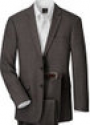 Deals List: Crossover Slim Fit 2-Button Suit with Plain Front Trousers (Taupe/Brown)