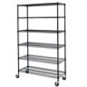 Deals List: Black/Chrome Commercial 6 Tier Shelf Adjustable Steel Wire Metal Shelving Rack