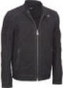 Deals List: Black Rivet Men's Suede Jacket w/ Stitched Shoulder (black or brown)