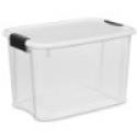 Deals List: Sterilite 19859806 30-Quart Ultra Latch Box, White Lid See-Through Base with Titanium Latches, 6-Pack