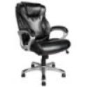 Deals List: Realspace® EC620 Executive High-Back Chair, Black/Silver