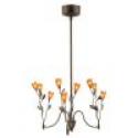 Deals List: Bel Air Lighting 9-Light Dark Bronze Amber Tulip Chandelier