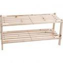 Deals List: Lavish Home 2-Tier Shoe Storage Wood Rack, Light Brown