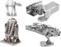 Deals List: Metal Earth 3D Model Kits - Star Wars Set of 4 - TIE Fighter, R2-D2, AT-AT, Millenium Falcon