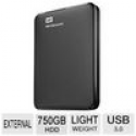 Deals List: WD Elements 750GB Portable Drive WDBUZG7500ABK-NESN