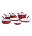Deals List: Bella 11-pc. Red Ceramic Cookware Set