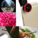 Deals List: 3in1 Fisheye+ Wide Angle + Macro Camera Clip Lens For Galaxy iPhone LG Red