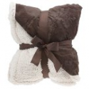 "Deals List: Floral Embossed Sherpa Throw Blanket 50"" x 60"" Reversible Textured Fuzzy Soft Beige"
