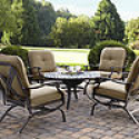 Deals List: Grand Harbor Hopkins 4pc Chat Set chairs- Neutral