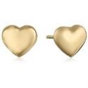 Deals List: 14k Yellow Gold Tiny Heart Button Earrings