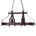 "Deals List: Portfolio 22""W 2-Light Antique Bronze Hardwired Lighted Pot Rack with Shade"