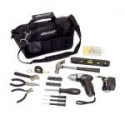 Deals List: Essentials 34-Piece Around the House Tool Kit with Cordless Screwdriver, black