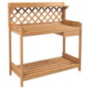 Deals List: Potting Bench Outdoor Garden Work Bench Station Planting Solid Wood Construction