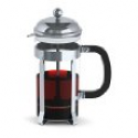 Deals List: Francois et Mimi Single Wall Borosilicate Glass French Coffee Press, Chrome Design (34oz)