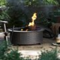 Deals List: Red Ember 29 in. Brushed Brass Wicker Base Design Fire Pit with FREE Cover
