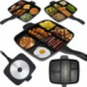 Deals List: The Master Pan – Cook 5 Foods on One Burner, Quick Clean Up