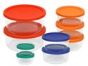 Deals List: Pyrex 1110141 18-Piece Storage Set with Color Lids