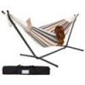Deals List: Double Hammock With Space Saving Steel Stand Includes Portable Carrying Case