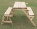 Deals List: Outsunny Patio 2 in 1 Outdoor Interchangeable Picnic Table / Garden Bench Wood