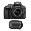 Deals List: Nikon D3300 24.2MP DSLR w/18-55mm VRII+55-200mm VR Lens Refurb